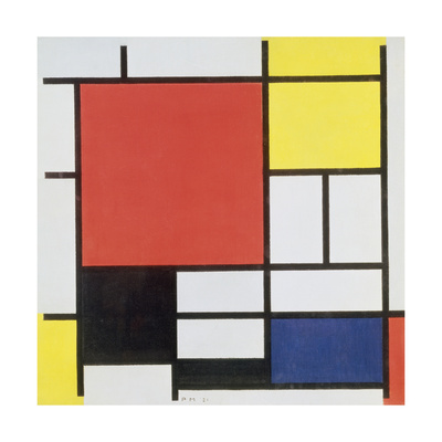 Composition with Red, Yellow, Blue and Black, 1921 Giclee Print