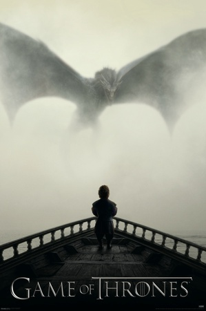 Game of Thrones - Lion & A Dragon Television Poster