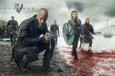 Vikings Blood Landscape Television Poster