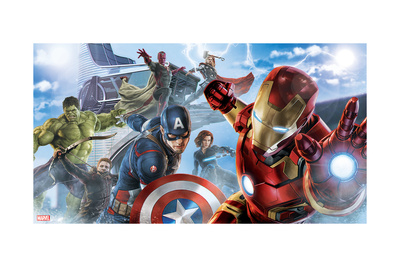 The Avengers: Age of Ultron - Iron Man, Thor, Hulk, Captain America, Hawkeye, Black Widow, Vision Art Print