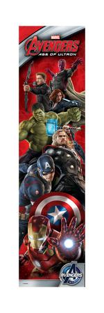 The Avengers: Age of Ultron - Vertical Design - Iron Man, Captain America, Thor, Hulk, Black Widow Art Print