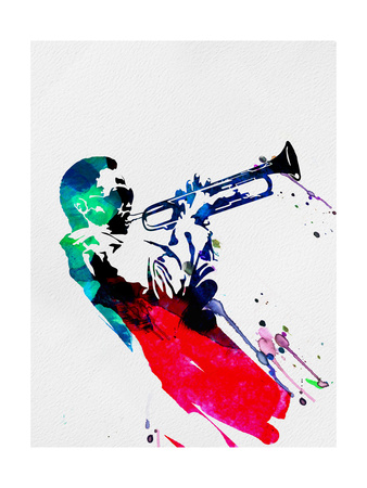 Miles Watercolor Art Art Print
