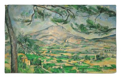 paul c 233 zanne mont sainte victoire with large pine tree circa 1887 sharp colored print