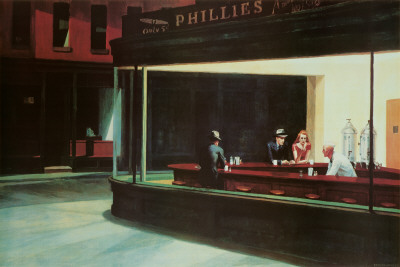 Nighthawks, c.1942 Art Poster