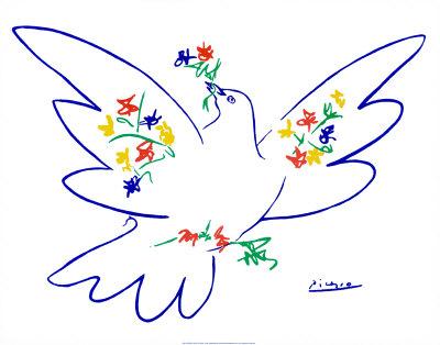 Friedenstaube (blau)