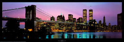 Brooklyn Bridge and New York City Skyline Posters