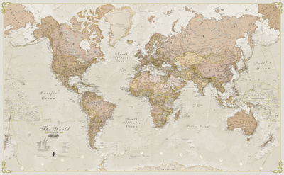 World Antique Megamap 1:20, Wall Map Giant Poster