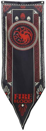 Game Of Thrones- House Targaryen Tournament Banner Fabric Poster
