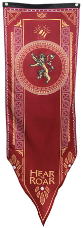Game Of Thrones- House Lannister Tournament Banner Television Fabric Poster