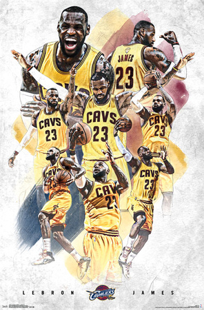 Cleveland Cavaliers- Lebron James 15 Sports Poster