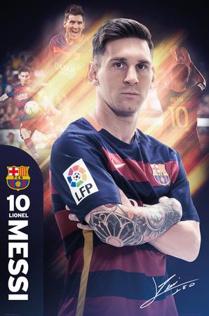 Barcelona- Messi 15/16 Poster