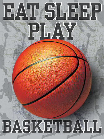 Eat Sleep Play Basketball Sports Premium Giclee Print