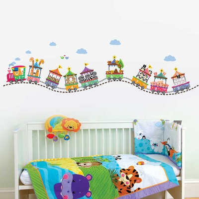 Circus Number Train Wall Decal