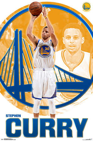 Golden State Warriors- Stephen Curry 2015 Sports Poster