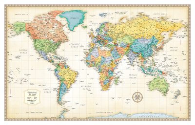 Rand Mcnally Classic World Map College Giant Poster