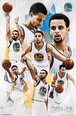 Golden State Warriors - Stephen Curry 2015 Poster