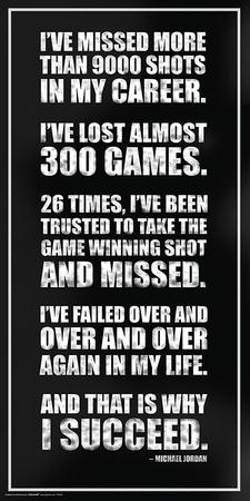 Michael Jordan- Success Quote Sports Poster