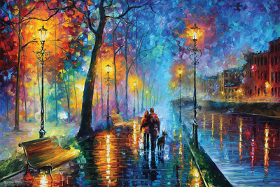 Leonid Afremov- Melody Of The Night Art Poster