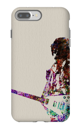 Hendrix With Guitar Watercolor iPhone 7 Plus Case