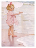 Buy Young Girl in the Ocean Surf at AllPosters.com
