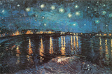 Starry Night over the Rhone, c.1888 Poster
