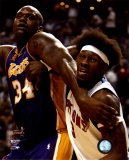 Ben Wallace& Shaquille O'Neal - '04 Finals Action ©Photofile