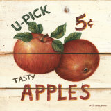 U-Pick Apples, Five Cents Art Print