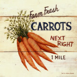Farm Fresh Carrots Art Print
