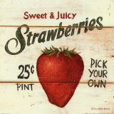 Sweet and Juicy Strawberries Art Print