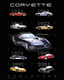 Corvette (Evolution) Art Poster Print Mini Poster