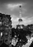Eiffel Tower Evening Art Print