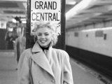 Marilyn in Grand Central Station Poster Print