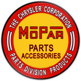 Chrysler Mopar Parts Tin Sign