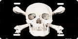 Skull & Crossbones License Plate Tin Sign