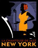 La Chanteuse de Jazz Art Print