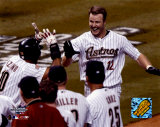 Jeff Kent - After hitting game-winning HR, Game 5, 2004 NLCS &copy;Photofile