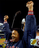 Pedro Martinez celebrating, Game 7 win - ALCS