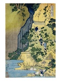 The Kannon Shrine at the Kiyo Falls at Sakanoshita on the Tokaido, from the Series A Journey to the