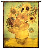 Vase with Twelve Sunflowers, c.1889 Wall Tapestry