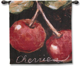 Ripe Cherries Wall Tapestry