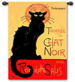 Tournee Chat Noir Wall Tapestry