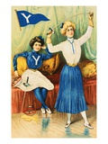 Album Card Depicting Women Fencers from Yale University