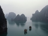 Junks in Ha Long Bay Photographic Print