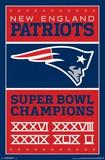 New England Patriots- Champions 17 NFL: Dallas Cowboys- Helmet Logo nfl