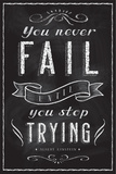 You Never Fail Until You Stop Trying David Glover- As Quoted By Einstein Never Made a Mistake - Albert Einstein Classic Quote Life Is Like a Bicycle Everybody is a Genius Albert Einstein The Wisdom of a Genius Nebula - Einstein Quote Albert Einstein Genius Quote Einstein: Do Not Worry Albert Einstein Great Minds Motivational Poster Einstein Curiosity Imagination Nebula - Albert Einstein Quote albert+einstein+quotes