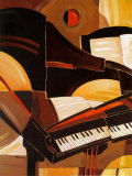 Abstract Piano Art Print