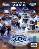Super Bowl XXXIX Matchup Composite - Patriots vs. Eagles