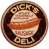 Dick's Sausage Tin Sign