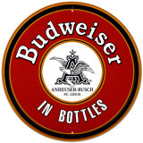 Budweiser In Bottles Tin Sign