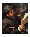 Portrait de Claude Monet en train de lire